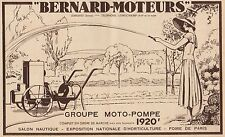 Y7125 Groupe Moto-Pompe BERNARD MOTEURS - Pubblicità d'epoca - 1935 Old advert