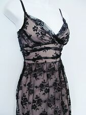 H&M vintage style lace Dress black nude 40s swing 50s Rockabilly S Xmas NY Party