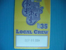 ALLMAN BROTHERS BAND INSTANT LIVE STICKER LOCAL CREW SEPTEMBER 05  2004