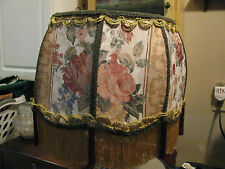 "Victorian French  Large Floor Table Lamp Shade ""Heiress""  Rose Flower Print"