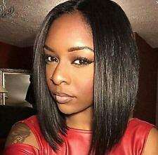 FIXSF237 new beauitufl short black bob straight hair wigs for women wig