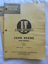 VINTAGE I & T SHOP SERVICE  JOHN DEERE SHOP MANUAL--MODEL 70 DIESEL-MANUAL# JD-8