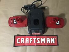 2 NEW Craftsman 19.2 Volt C3 Compact Lithium-Ion Batteries 5166 and Charger 5336