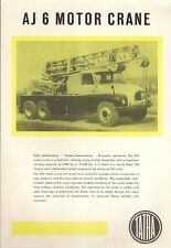 Tatra AJ 6 Motor Crane Early 1960s UK Market Leaflet Sales Brochure