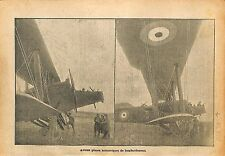 Avion Aircraft Royal Flying Corps (RFC) Bombs  WWI 1918 ILLUSTRATION
