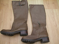 BODEN LEATHER CHUNKY SOLE BUCKLE  BOOTS SIZE ==SIZE 38==5  BNWOB