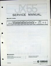 Yamaha JX55 Guitar Amplifier Original Service Manual, Schematics Parts List Book