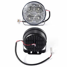 2x Daytime Running 4 LED DRL Head Light white Lamp Car 12V Round Kit Fog MA135