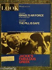 1970 June 30 Look Magazine Jackie's Fabulous Greek VINTAGE ADS  The Pill  Israel
