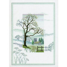 Derwentwater Designs Misty Mornings Cross Stitch Kit - Winter Tree