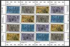 Canada Stamps - Full Pane of 16 -Second World War-1941 #1345-1348 -MNH