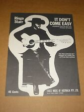"Ringo Starr ""It Don't Come Easy"" Australian sheet music"
