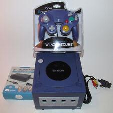 Indigo Nintendo GameCube Console Bundle System w New Purple Controller & Hookups