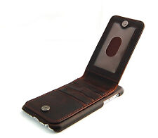 iPhone 6 6S Brown Classic Genuine Leather wallet case