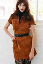 NWT Small Ecote Suede Shirt Dress Leather Nasty Gal Urban Outfitters Boho $298