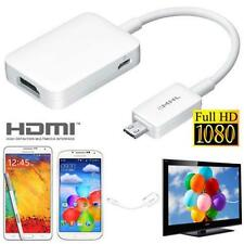 MHL Micro USB to HDMI 1080P HD TV Cable Adapter Samsung Galaxy S5 Note 3 Note 4