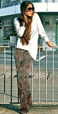 Zara Wide Leg Paisley Printed Trousers Size S UK 8 BNWT