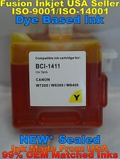 BCI-1411 Cartridge for Canon W7200 W8200 W8400D Yellow dye ink not oem tank y ll