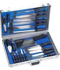 22PC Professional Chef's Cutlery Set in Case Commercial Kitchen Knife Knives