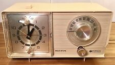 VINTAGE 1950'S GENERAL ELECTRIC ALARM CLOCK RADIO SOLID STATE WORKS