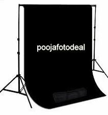 Photography Backdrop Stand Kit COMBO with black Background Support Portable Bag