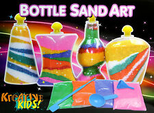 New BOTTLE SAND ART Set Creative Kids Toy Fun Activity Perfect Gift