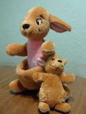 Vintage Disneyland Disney World Winnie the Pooh Kanga & Roo Kangaroo Plush Toy