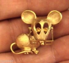 VTG 1970s Avon Spectacular Mouse Pin Glasses Move Rhinestone Eyes Figural Brooch
