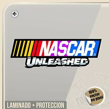 PEGATINA NASCAR UNLEASHED STOCK CAR AUTO RACING VINYL STICKER DECAL ADESIVI