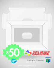 50 CALES TRAY INSERT INLAY NEUVES POUR BOITES SUPER NINTENDO SNES