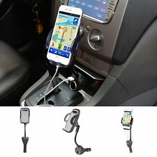 Dual USB Port Cigar Lighter Car Mount Charger Holder For iPhone 7 Plus 6S Note 5