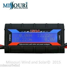 150 Amp Watt Meter WITH SPECIAL HEAVY AWG WIRE 4 HI/AMPS Solar PV / Wind Turbine