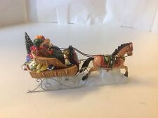 Department Dept 56 A Holiday Sleigh Ride Together Accessory Snow Village 5492-1