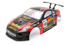 . Racing Nissan 350z 1/10 Rc Car Body Shell Negro 190 Mm s004b