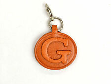Alphabet/Initial G Handmade Leather Keychain/Charm *VANCA* Made in Japan #26378