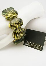 Joan Rivers Animal Print Stretch Bracelet (comes w/J R romance card)