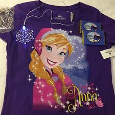 Ana Frozen NEW Tshirt Disney Cruise line DCL youth M,D + 2Chocolate & 2 Necklace