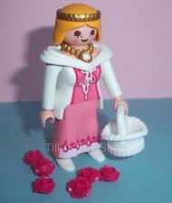 Playmobil-Victoriano dollshouse/palace-lady Blanca Con Cesta Y Flores-Nuevo