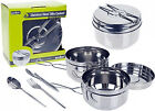 Nesting Billy Can 6 Piece Cooking Set Outdoor Travel Camping Stove Pots & Pans