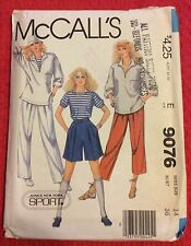 9076 McCall's Misses Jones New York Knit Sailor Top Pants Hat Pattern 14 Bust 36