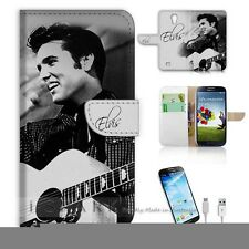 Samsung Galaxy S4 Flip Wallet Case Cover! S8415 Elvis Presley