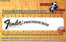 Fender Precision Bass Headstock Restoration Waterslide Decal