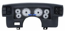 1990-93 Ford Mustang Dakota Digital Silver Alloy & Blue VHX Analog Gauge Kit