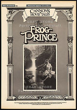 CANNON MOVIE TALES__Original 1986 Trade AD/ poster__FROG PRINCE__RED RIDING HOOD