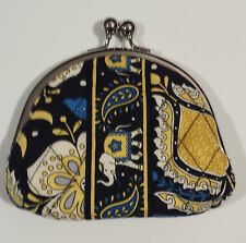 Vera Bradley Double Kisslock Coin Purse Wallet ELLIE BLUE - FREE S/H