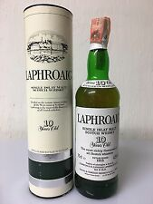 LAPHROAIG 10YO SINGLE ISLAY MALT WHISKY 75CL 43% VOL CINZANO IMPORT OLD VERSIONE