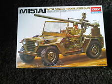ACADEMY M151-A1with 105mm Recilless Gun Model Kit 1/35 Scale