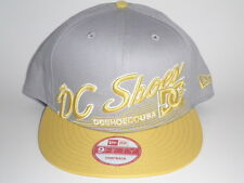 DC Shoes New Era 9Fifty SCRIPTO Snapback Hat Yellow Grey OSFA ($30) Skate BMX MX