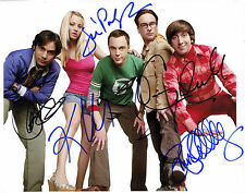 REPRINT - Cast BIG BANG THEORY autograph signed photo