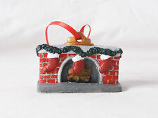 3D Christmas Hearth (Fireplace) /NOEL Ornament Plaster-Custom Painted by Pizzazz